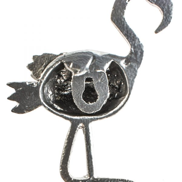 Matt Silver Flamingo Wall Hook