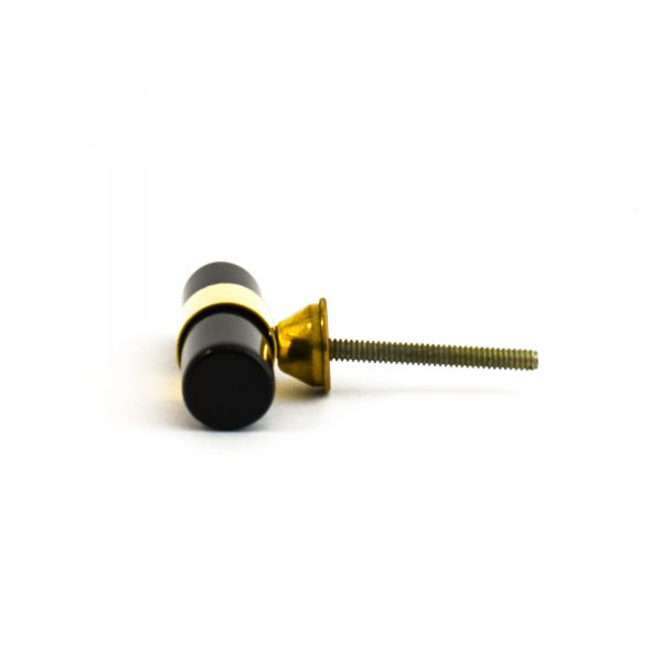 Black Resin and Brass Pull