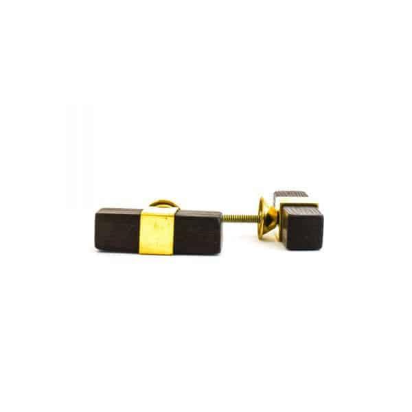 Dark Wood and Brass T-bar Pull