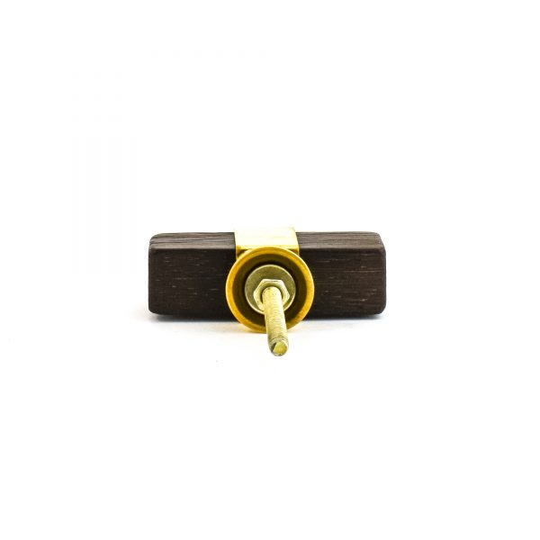 Dark Wood and Brass T-bar Pull
