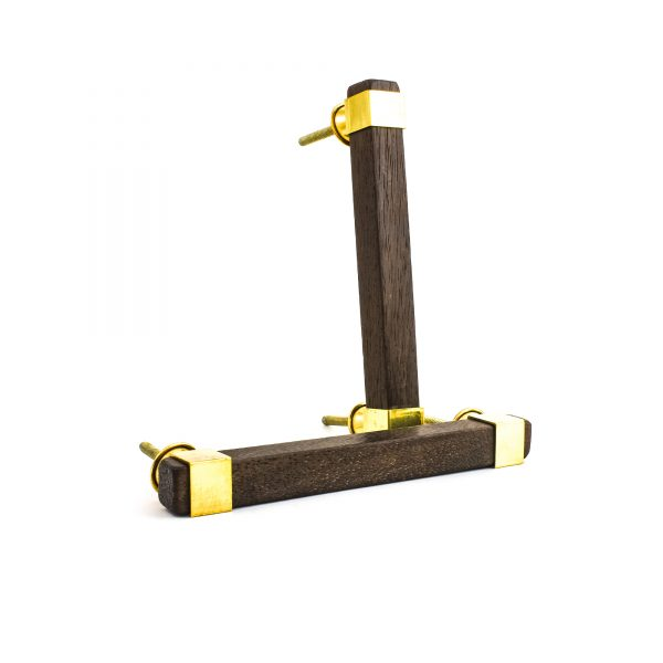 Dark Wood and Brass Handle
