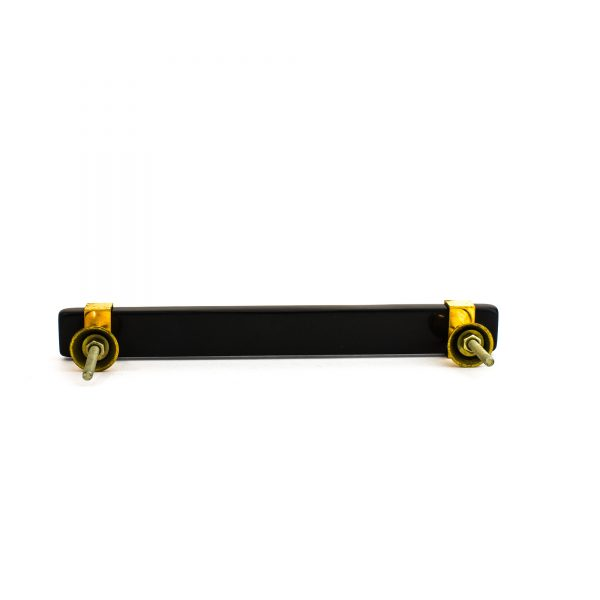 Rectangle Black Resin and Brass Handle