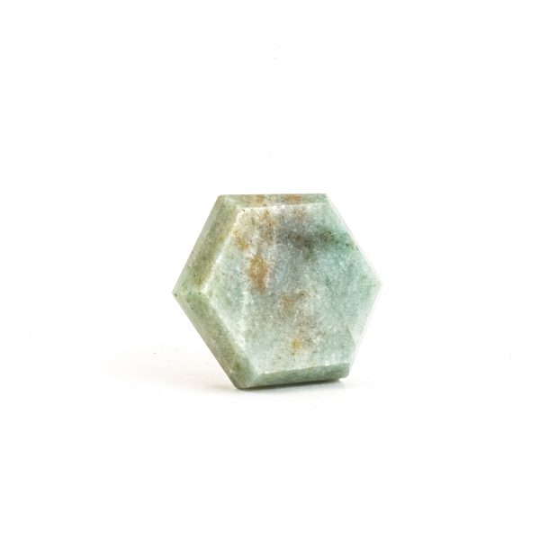 Hex Green Quartz Knob