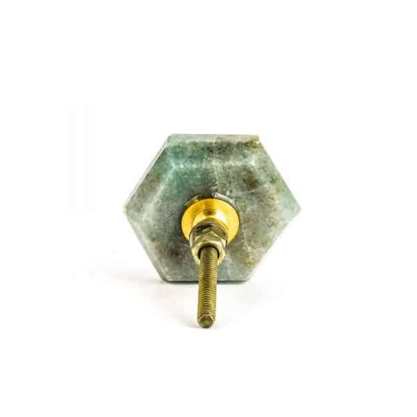 Hex Green Quartz Knob