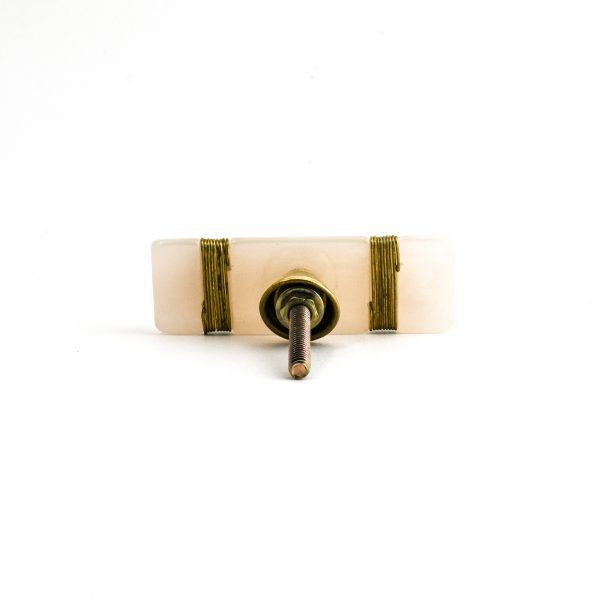 Gold Metal Wrapped Resin Pull