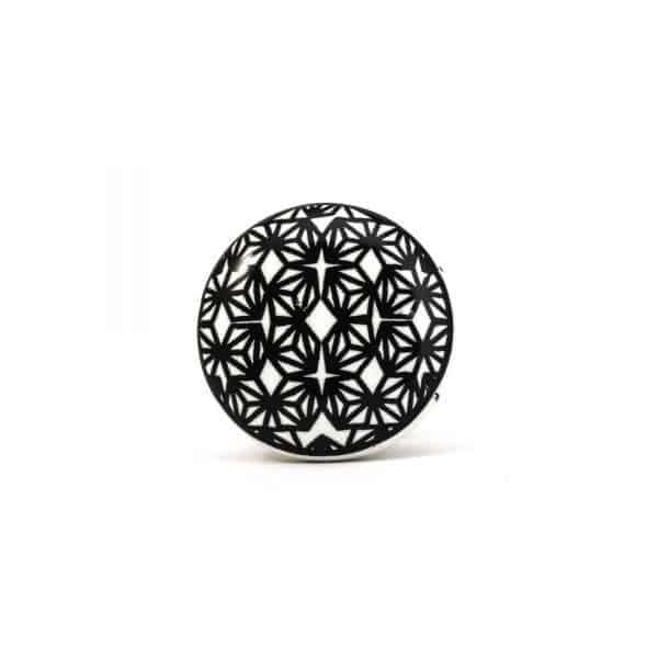 Black and White Retro Geo Knob