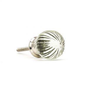 Vintage Round Clear Glass Knob