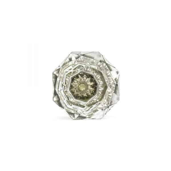 Solid Clear Octagon Glass Knob