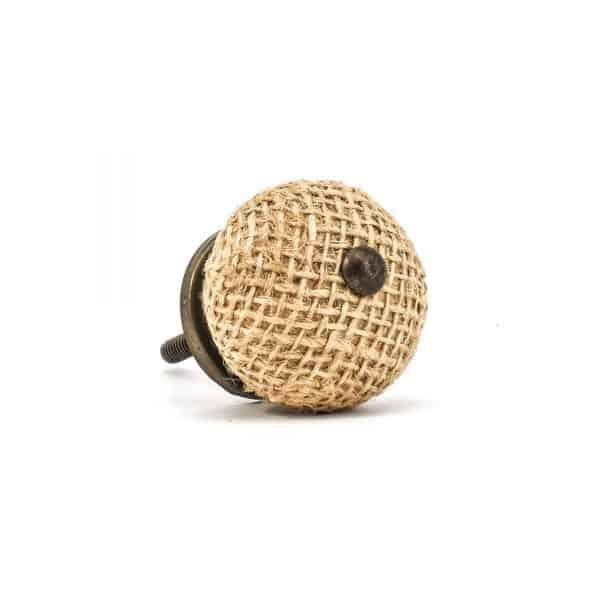 Button Jute Knob