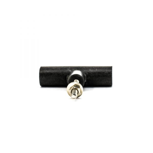 Cylindrical Black Marble Pull