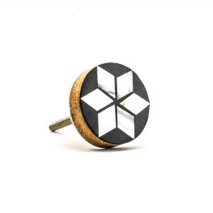 Inlaid Flower Knob
