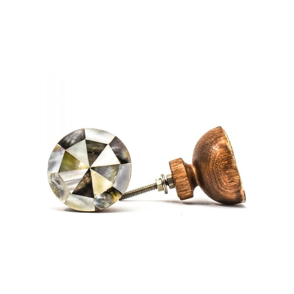 Large Mother of Pearl Bowl Knob