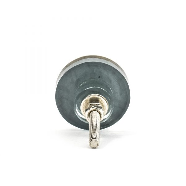 Antiqued Glass Round Knob