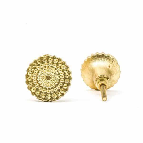 Gold Starburst Iron Knob