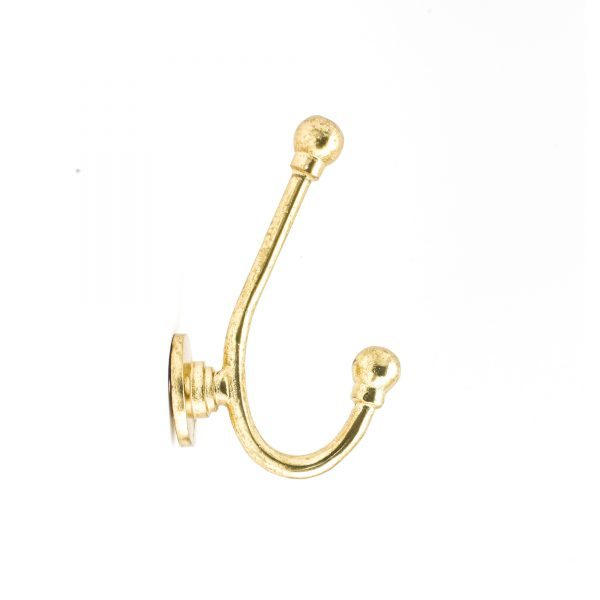 Gold J-Shape Wall Hook