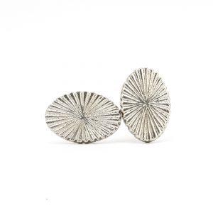 Silver Radial Iron Knob