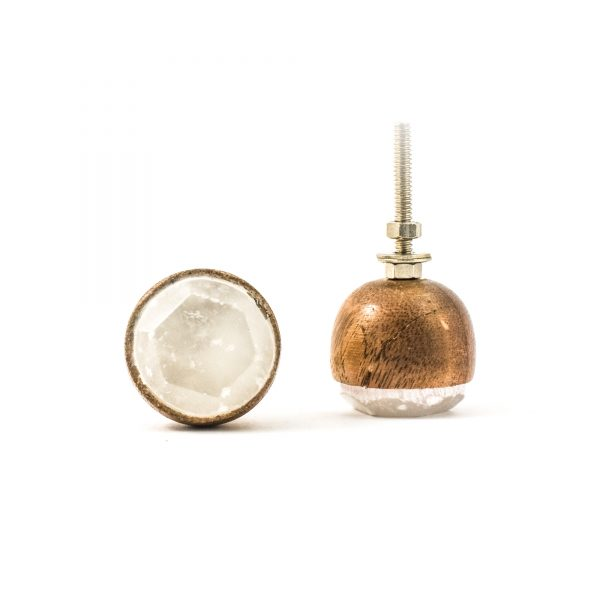 Stone and Wood Bowl Knob