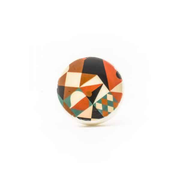 Abstract Enamel Knob