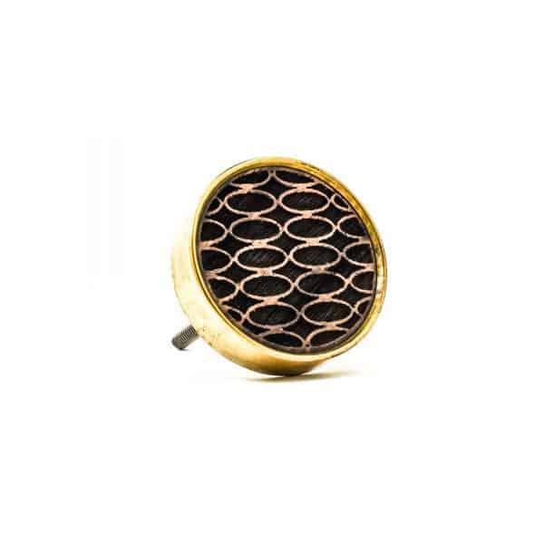 Laser Wood Brass Knob