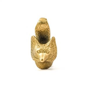 Wise Old Fox Gold Iron Knob