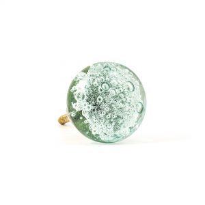 Blue Bubbled Glass Knob