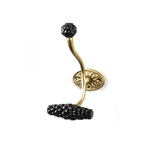 Vintage Gold and Black Wall Hook