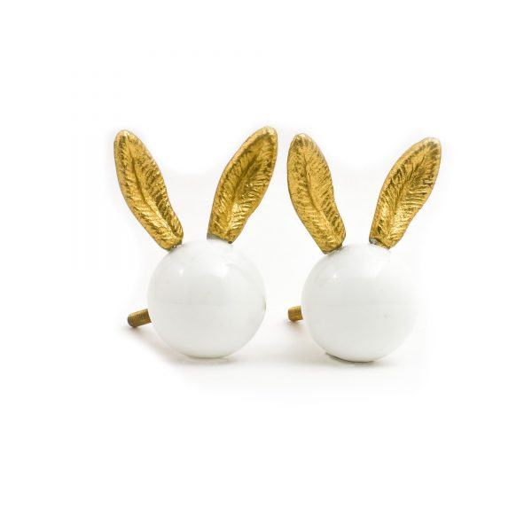 Glass and Gold Bunny Knob