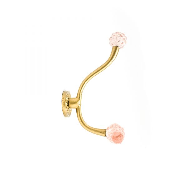 Vintage Gold and Pink Wall Hook