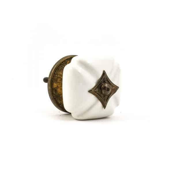 White Vintage Inspired Ceramic Knob