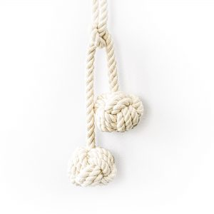 Double Knot Cotton Curtain Tie Back