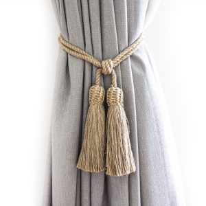 Jute Interlace Curtain Tie Back