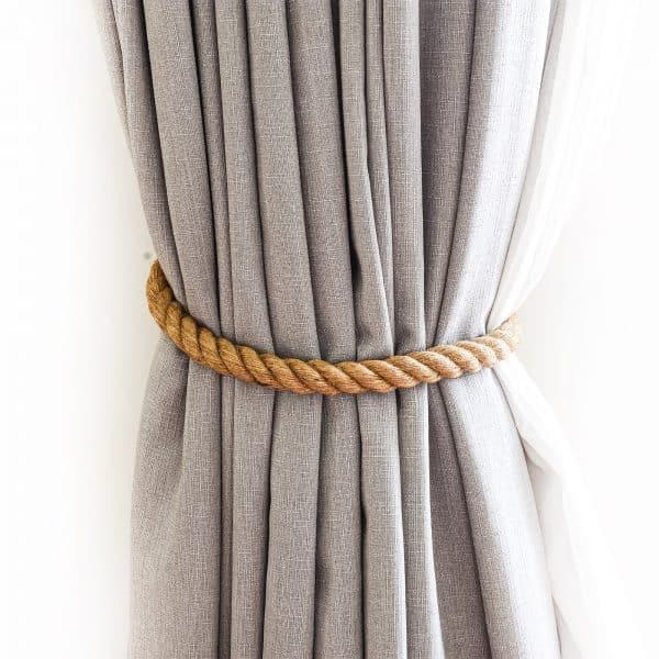 Twist Rope Jute Curtain Tie Back