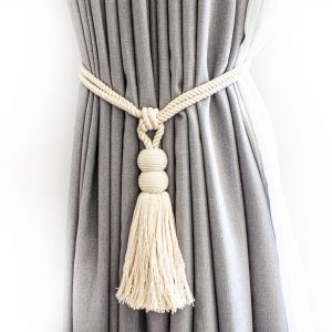 Double Sphere Cotton Curtain Tie Back