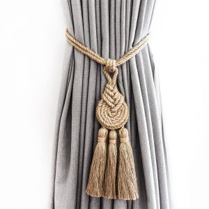 Spiralled Jute Tassel Curtain Tie Back