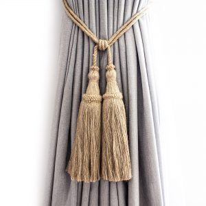Large Classic Jute Tassel Curtain Tie Back