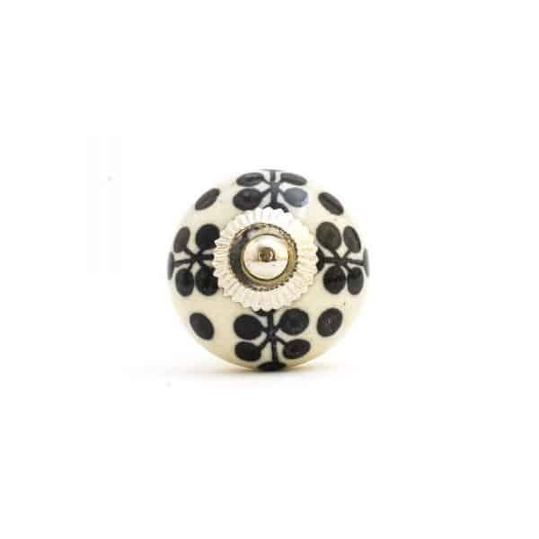 Monochrome Flower Knob