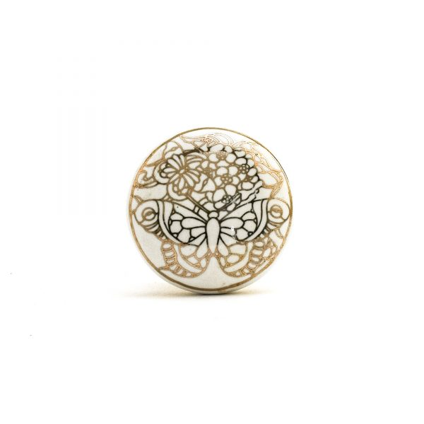Butterfly Outline Knob