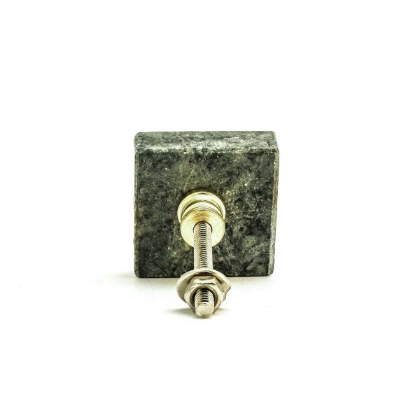 Square Green Granite Knob