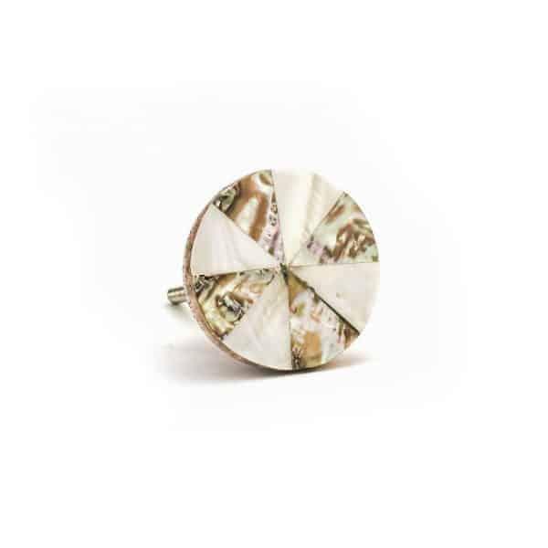 Pinwheel Shell Knob