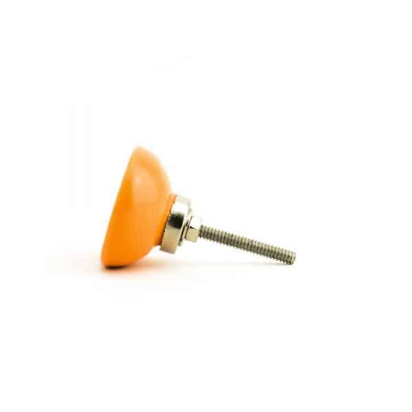 Papaya Orange Ceramic Disc Knob
