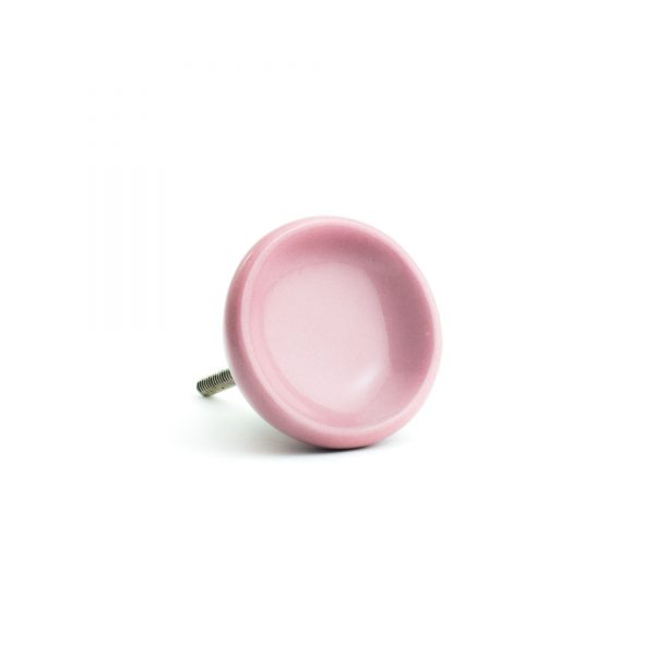 Blush Pink Ceramic Disc Knob