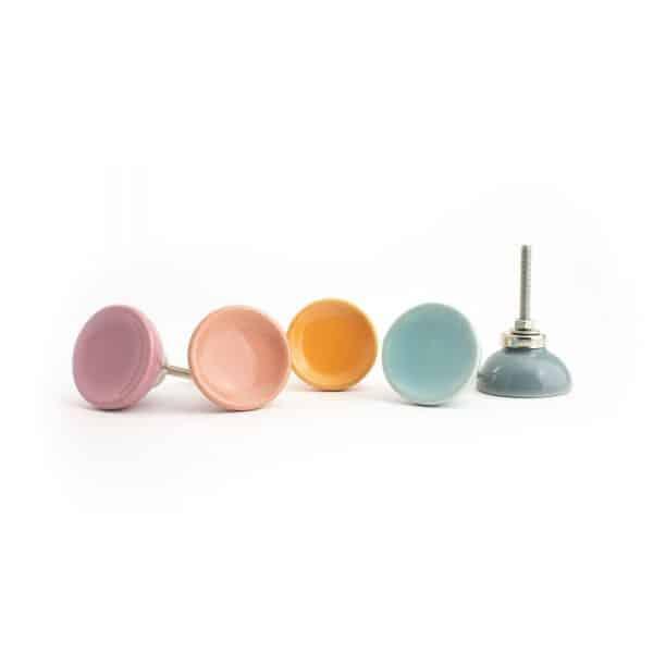 Slate Blue Ceramic Disc Knob