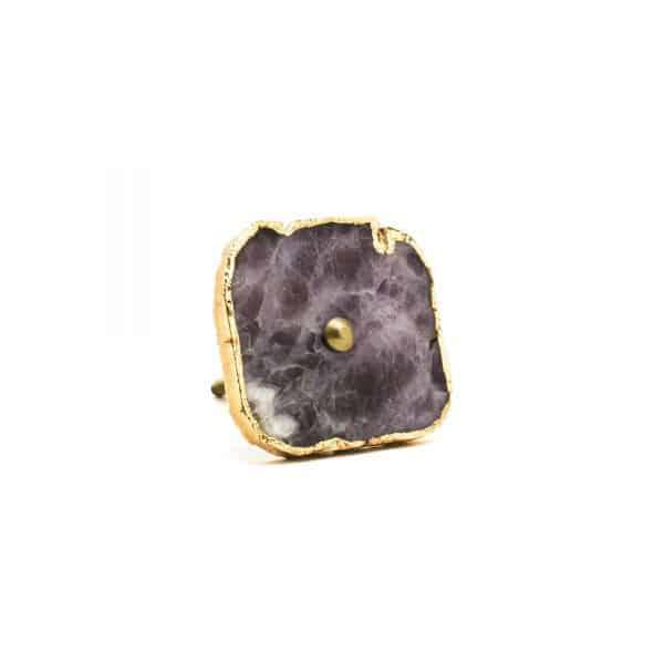 Amethyst Stone Knob