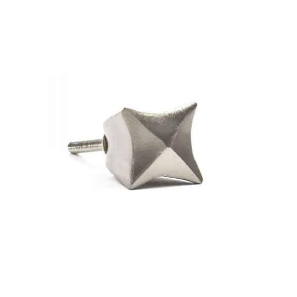 Silver Iron Crown Knob