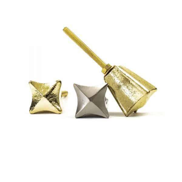 Gold Iron Crown Knob