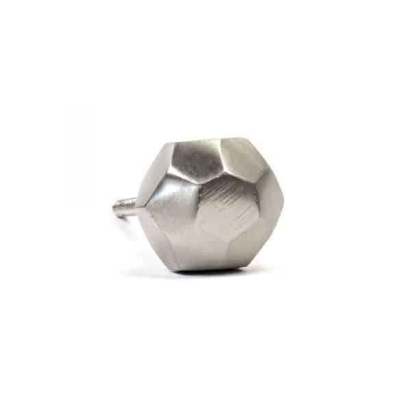 Silver Iron Geometric Knob