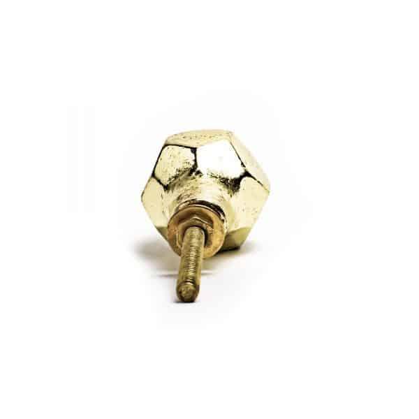 Gold Iron Geometric Knob