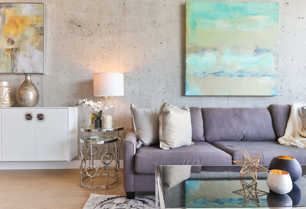 3. Amethyst Stone Knob in living room - The Healing Power of Crystals in Holistic Interior Design