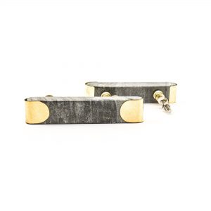 Grey Marble and Brass Arch Handle