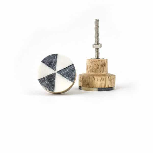 Small Rustic Bone Wheel Knob